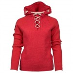 Amundsen Boiled hoodie laced woman weathered red