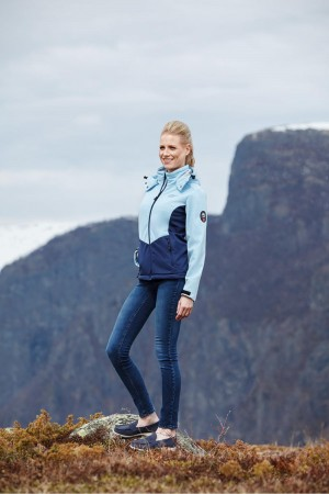 Scandinavian Explorer softshell lady lyseblå