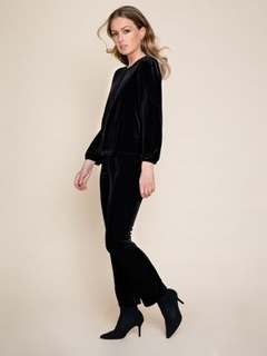 Ella&il Maud velour pants black