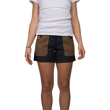 Amundsen 5incher field shorts faded navy/tan woman