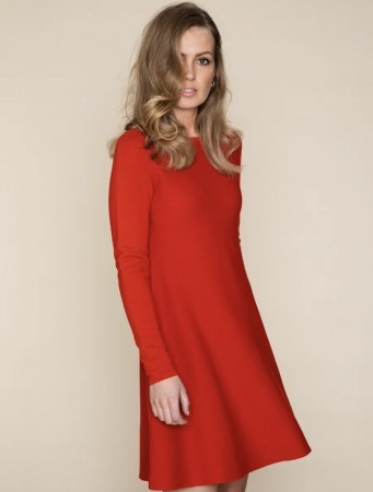 Ella&il Cecilie merino dress red
