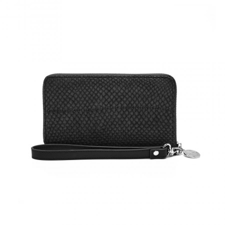 Wallet black salmon leather