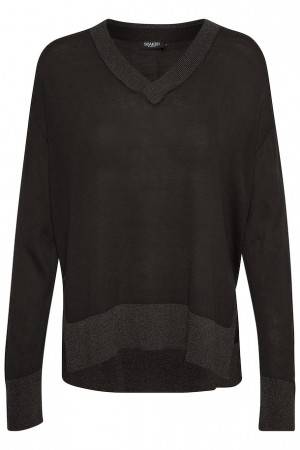Soaked in Luxury strikket pullover black
