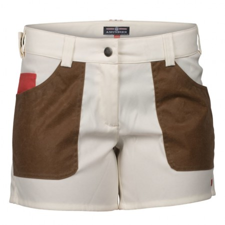 Amundsen 5incher field shorts offwhite/tan woman